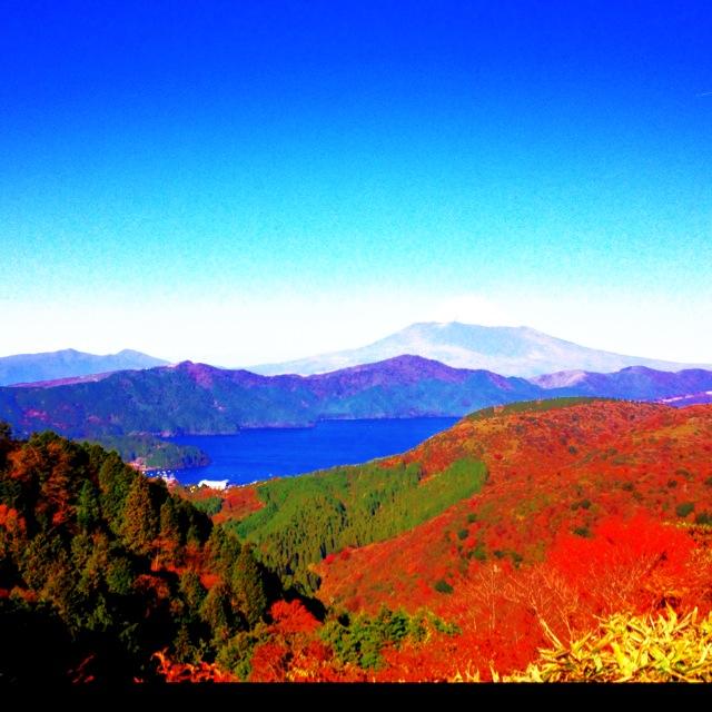 紅葉 サーフィン サーフトリップ 秋 箱根 芦ノ湖