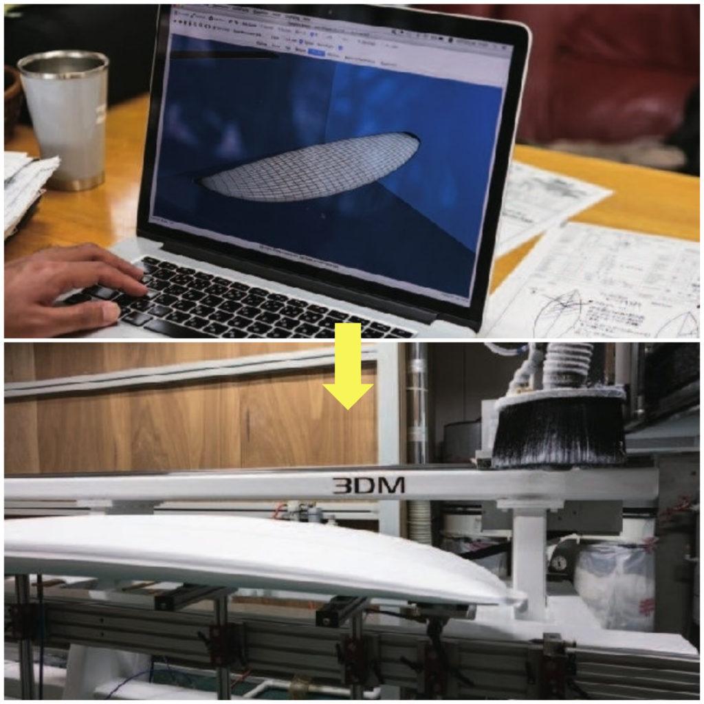 ソエダサーフボードジャパンのマシンシェイプ