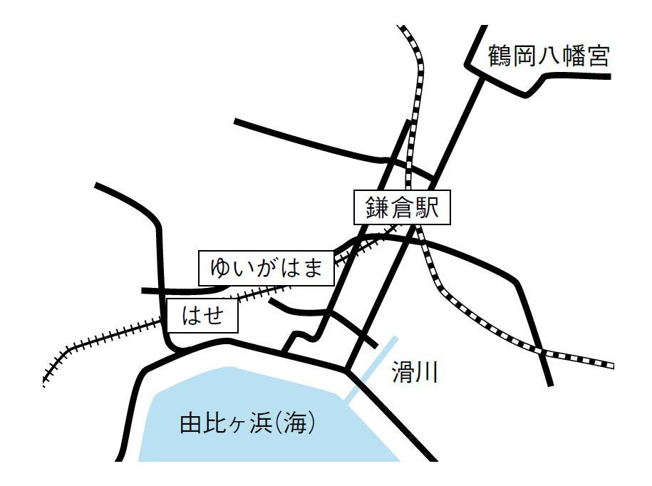 鎌倉駅から由比ガ浜