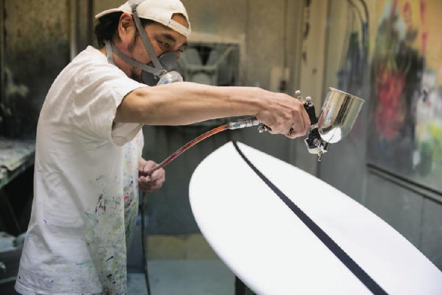 サーフボードのカラーリング